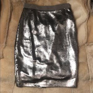 Gorgeous Gold Matte Sequin Pencil Skirt w tags
